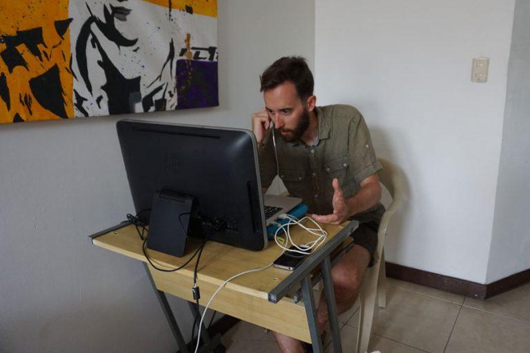 Nómada Digital en Cartagena, Colombia.
